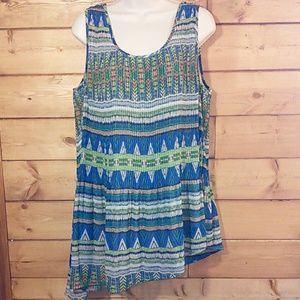 Live and Let Live | Accordian Pleat Tunic Tank L
